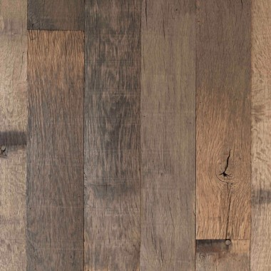 vintage wall facade cladding in wood from reclaimed Trainwagon floorings