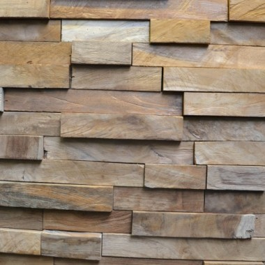 Revetement de Mur en Bois Teak Indonesia
